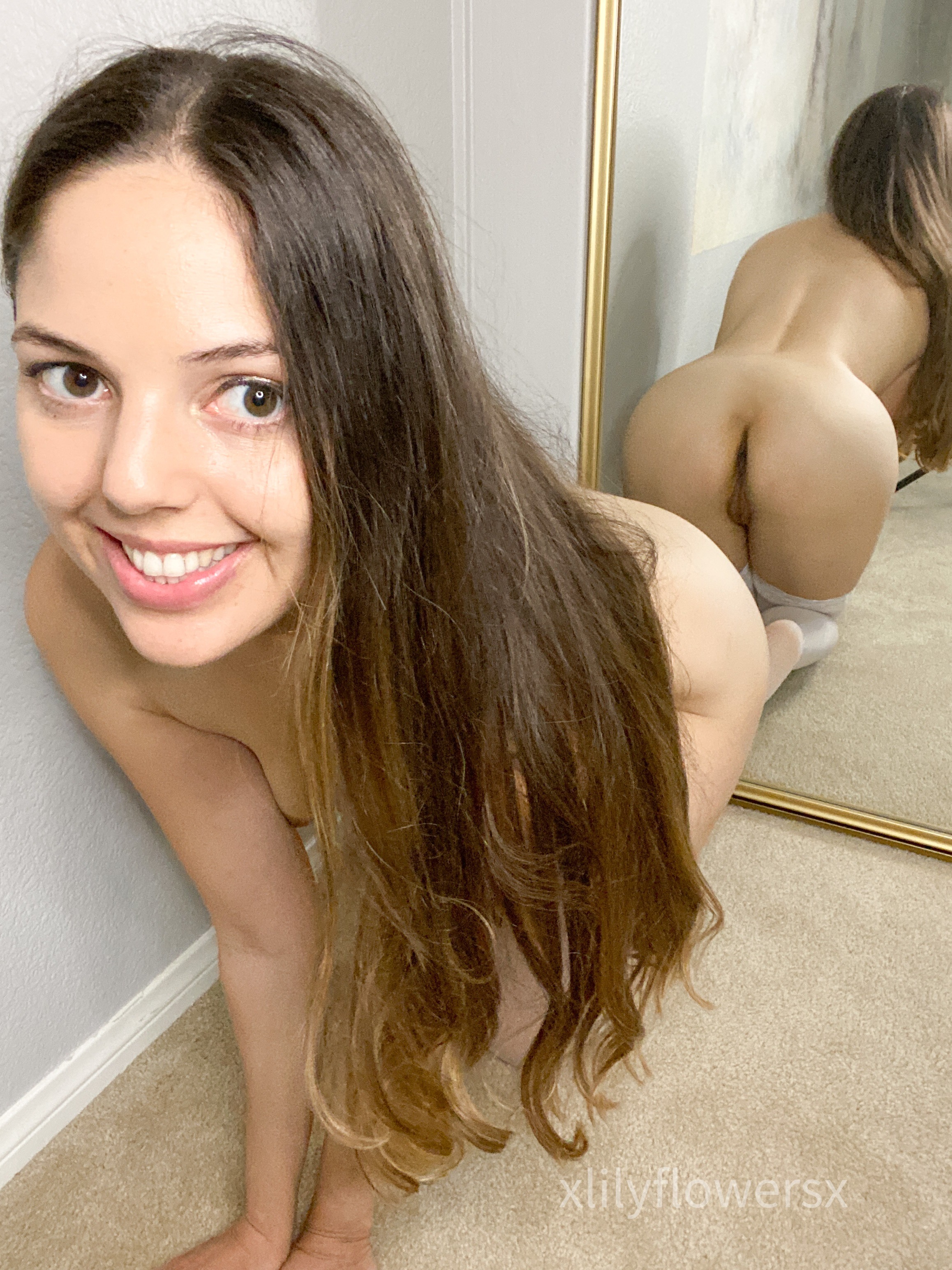 One of our petite nude pics called Can I send you nudes?